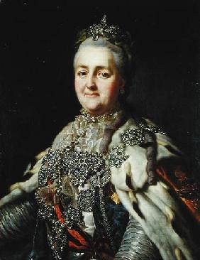Portrait of Catherine II (1729-96) of Russia