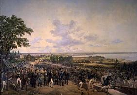 King Carl XIV Johan (1763-1844) of Sweden Visiting the Canal Locks at Berg in 1819 1856