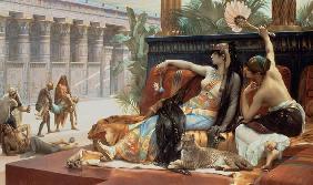 Kunstdruck von Alexandre Cabanel - Kleopatra erprobt Gift