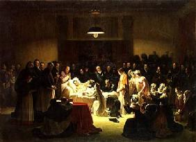 The Last Moments of Charles-Ferdinand of France (1778-1820) in the Administration Room of the Paris c.1828