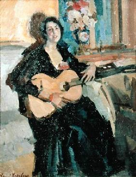 Lady with a Guitar 1911