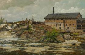 Farnhams Mill in St. Anthony Falls, Minneapolis 1888