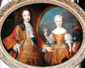 Louis XV (170-74) and the Infanta of Spain c.1724