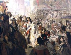 The Return of Charles II (1630-85) to Whitehall in 1660 1867