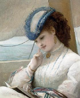 A Girl Reading in a Sailing Boat 1869