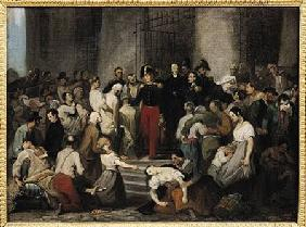 The Duke of Orleans Visiting the Sick at l'Hotel-Dieu During the Cholera Epidemic in 1832