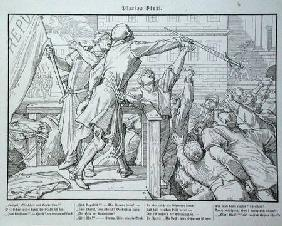 Death on the Tribune, from 'Another Dance of Death' published by Georg Wigand in Leipzig 1849