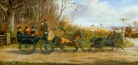 A Brake and Four going to a Meet 1873