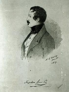 Portrait of Napoleon III (1808-73) as a young man