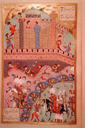 The conquest of Belgrade by Sultan Suleyman I (1495-1566), from the 'Suleymanname' (Mss Hazine. 1517 1558
