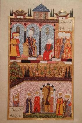 The presentation of gifts to Suleyman I (1495-1566) on the occasion of the circumcision of his sons 1558