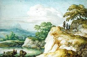 Hikers in the Highlands c.1655  on