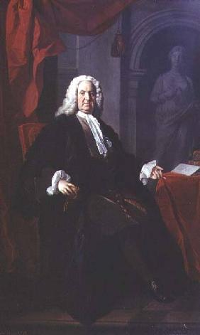 Portrait of Dr. Richard Mead 1747
