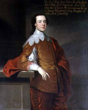 Portrait of the Honourable Philip York, son of Lord Hardwicke, High Chancellor of Great Britain signed and