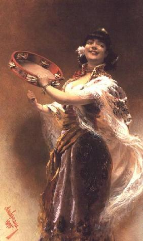 Gypsy Girl with a Tambourine