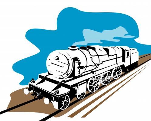 vintage steam train on white aloysius patrimonio als kunstdruck oder handgemaltes gem lde. Black Bedroom Furniture Sets. Home Design Ideas