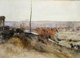 Attack on the Lime Kiln at the Champigny Quarry, 2nd December 1870, 1881 (oil on canvas) 19th