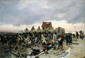 Bivouac at Le Bourget after the Battle of 21st December 1870, 1872 (oil on canvas) 19th