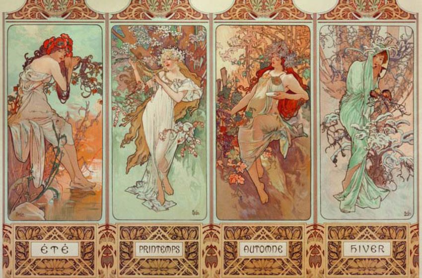 Jugendstil Malerei kunst des jugendstil nouveau bei kunstkopie de