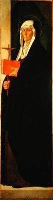 St. Clare, c.1485-90 (tempera on panel) 14th