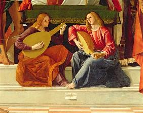 The angel musicians, from the altarpiece of Saint Ambrose (detail of 230093)