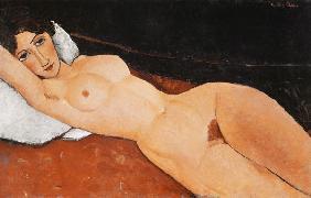 Kunstdruck von Amadeo Modigliani - Liegender Frauenakt