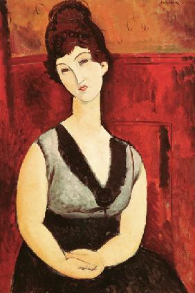Kunstdruck von Amadeo Modigliani - Das Schokoladenmädchen