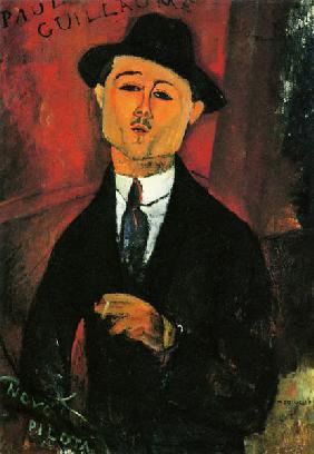 Kunstdruck von Amadeo Modigliani - Bildnis Paul Guillaume