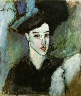 Kunstdruck von Amadeo Modigliani - Die Jüdin