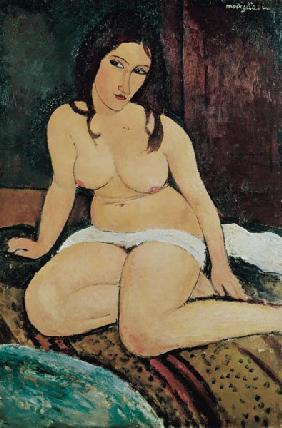 Kunstdruck von Amadeo Modigliani - Sitzender Akt