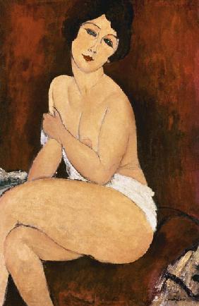 Kunstdruck von Amadeo Modigliani - Sitzender weiblicher Akt