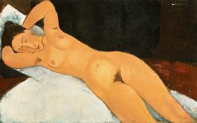 Kunstdruck von Amadeo Modigliani - Akt mit Halskette
