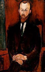 Kunstdruck von Amadeo Modigliani - Bildnis des Herrn Wielhorski.