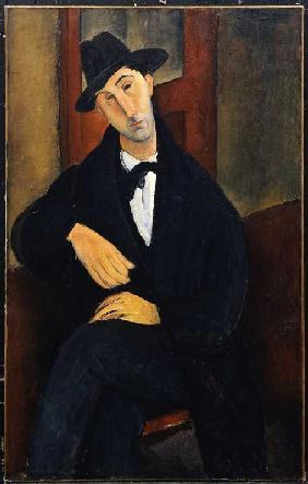 Kunstdruck von Amadeo Modigliani - Bildnis Mario Varvogli