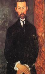 Kunstdruck von Amadeo Modigliani - Bildnis Paul Alexandre