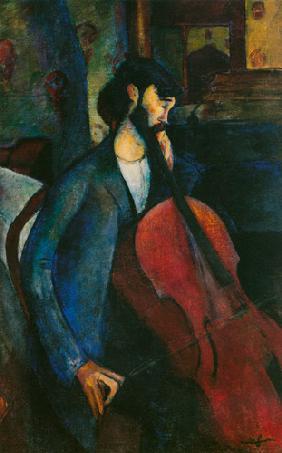 Kunstdruck von Amadeo Modigliani - Der Cellist