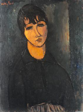 Kunstdruck von Amadeo Modigliani - Bildnis eines Dienstmädchens.