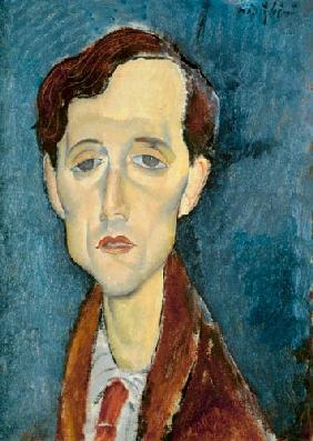 Kunstdruck von Amadeo Modigliani - Portrait von Franz Hellens