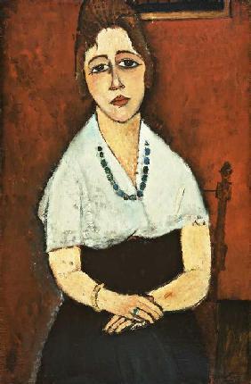 Kunstdruck von Amadeo Modigliani - Junge Frau mit Halskette (Elena Picard)