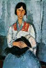 Kunstdruck von Amadeo Modigliani - Gypsy Woman with a Baby