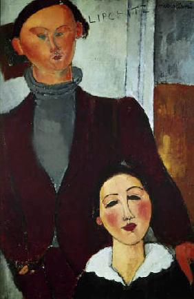 Kunstdruck von Amadeo Modigliani - Jacques Lipschitz und seine Frau.