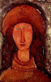 Kunstdruck von Amadeo Modigliani - Jeanne Hebuterne im Rollkragenpullover