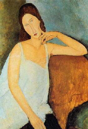 Kunstdruck von Amadeo Modigliani - Ausschnitt Jeanne Hébuterne2