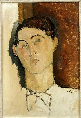 Kunstdruck von Amadeo Modigliani - Kopf eines jungen Mannes.