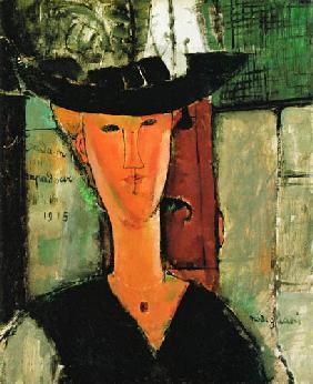 Kunstdruck von Amadeo Modigliani - Ausschnitt Madam Pompadour