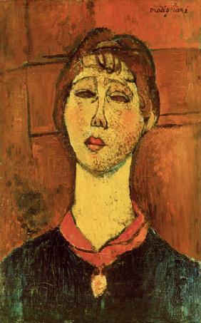 Kunstdruck von Amadeo Modigliani - Bildnis der Mme Blanche Dorivale