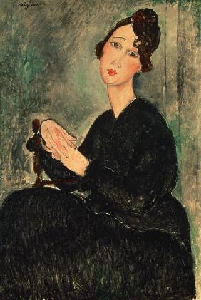 Kunstdruck von Amadeo Modigliani - Portrait of Dedie (Dedicated to Odette Hayden)