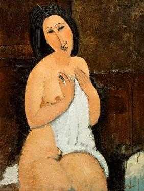 Kunstdruck von Amadeo Modigliani - Seated Nude with a Shirt