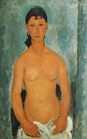 Kunstdruck von Amadeo Modigliani - Stehender Akt - Elvira