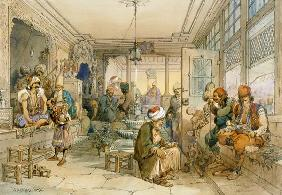 A Coffee House, Constantinople 1854  &